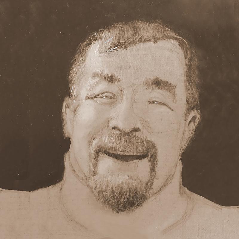 A mono-chromatic close-up self-portrait study in sepia.