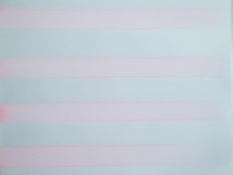 A painting of pink horizontal lines