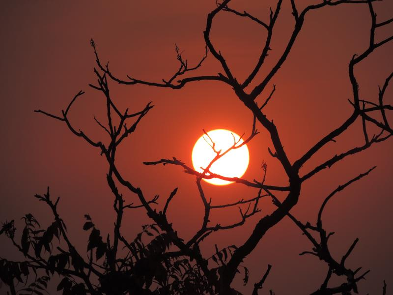 Smoke from the West Coast wildfires made for a fiery Twin Cities sunset.