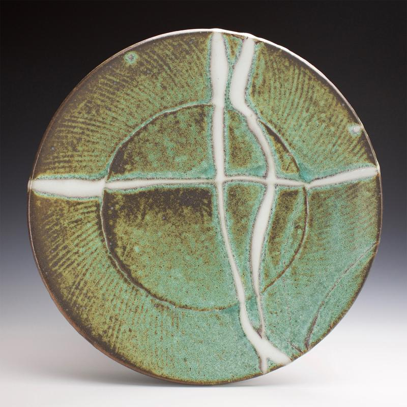 Stoneware with multiple glazes.