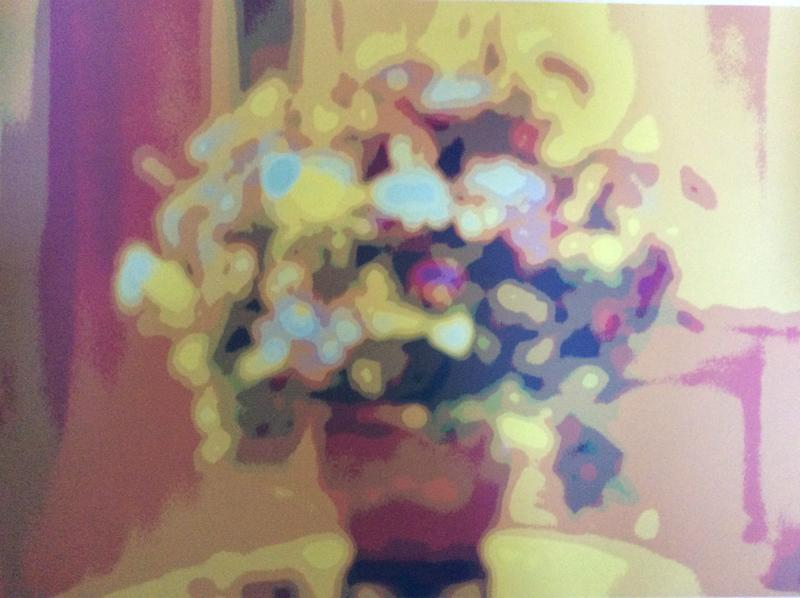 One of a series of a bouquet of flowers.