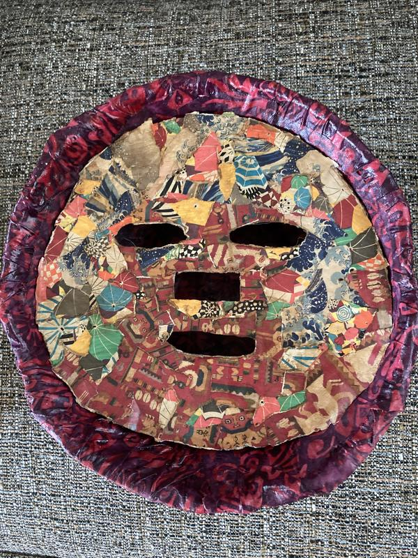 Mask in a fabric bowl