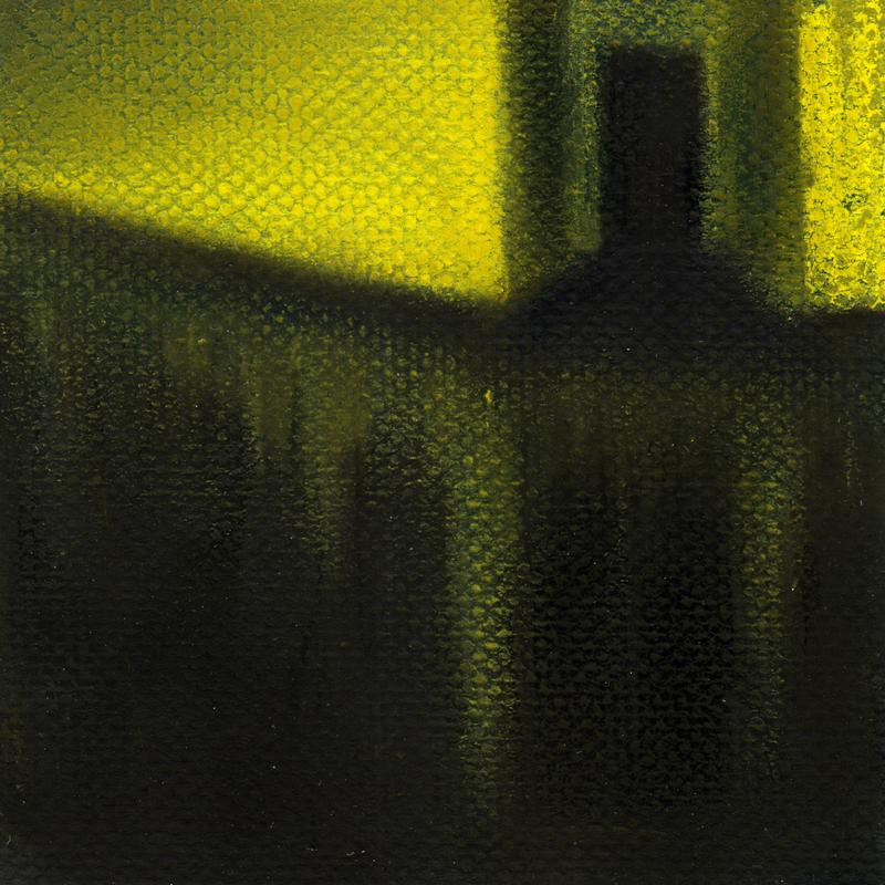A yellow room suspended above darkness
